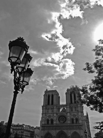 Notre Dame, BW, Paris