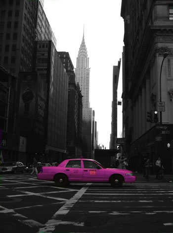 Pink Taxi, NYC