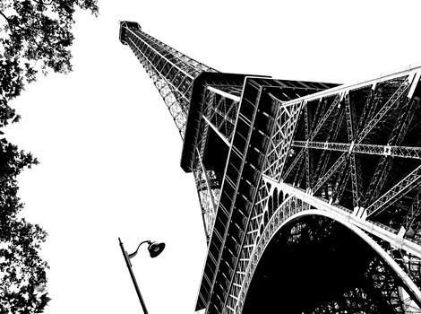 Eiffel Tower Paris (landscape)