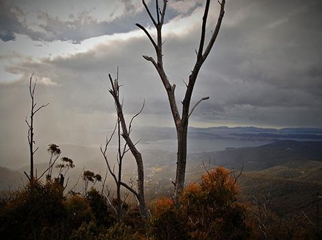 Hobart from Mount Wellington, TA
