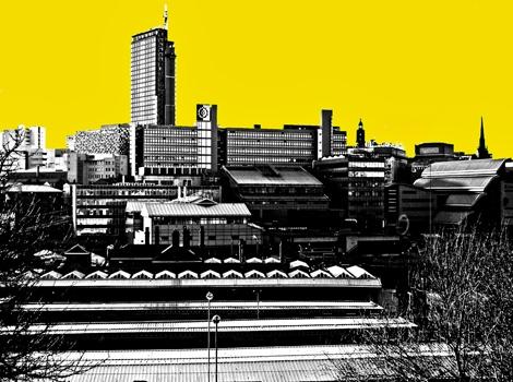 Sheffield Skyline Yellow
