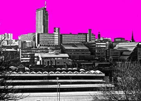 A Sheffield Skyline Pink