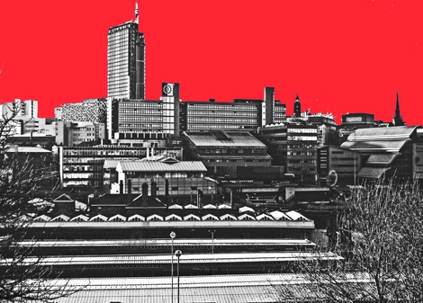A Sheffield Skyline  Red